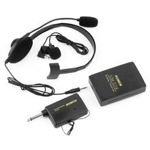VHF Stage Wireless Lavalier Lapel Headset Microphone System Mic FM Transmitter