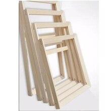 עץ מסגרת עבור בד שמן ציור במפעל מחיר עץ מסגרת עבור בד שמן ציור טבע DIY מסגרת תמונה מסגרת פנימית