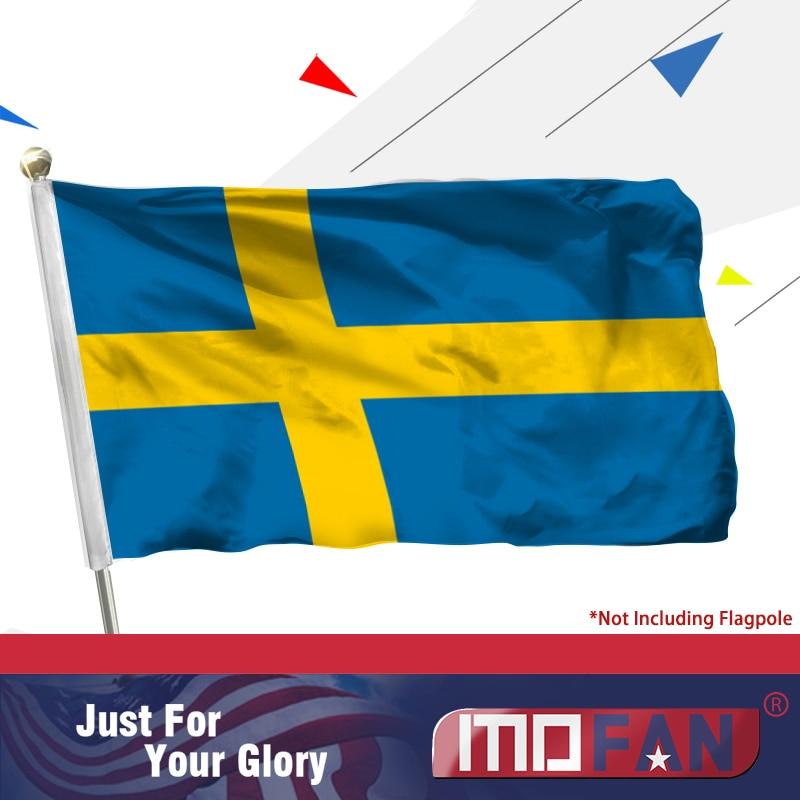 MOFAN Suécia Bandeira --- Alta Qualidade E Durável - Bandeiras da - Decoração de casa