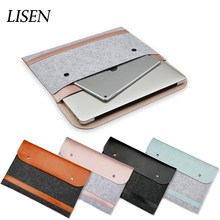 dustproof felt PU Leather cover 13 15.4 notebook case for Apple Macbook Air Pro