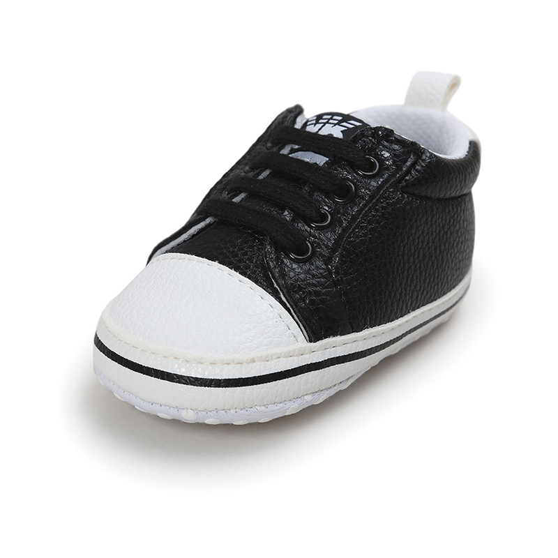 Newborn Boy Girl Toddler Baby Soft Sole lace-up Sneakers Shoes PU Leather Walk ...