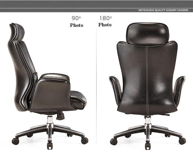 Boss Office Chair Black Brown Color Genuine Leather Free Shipping