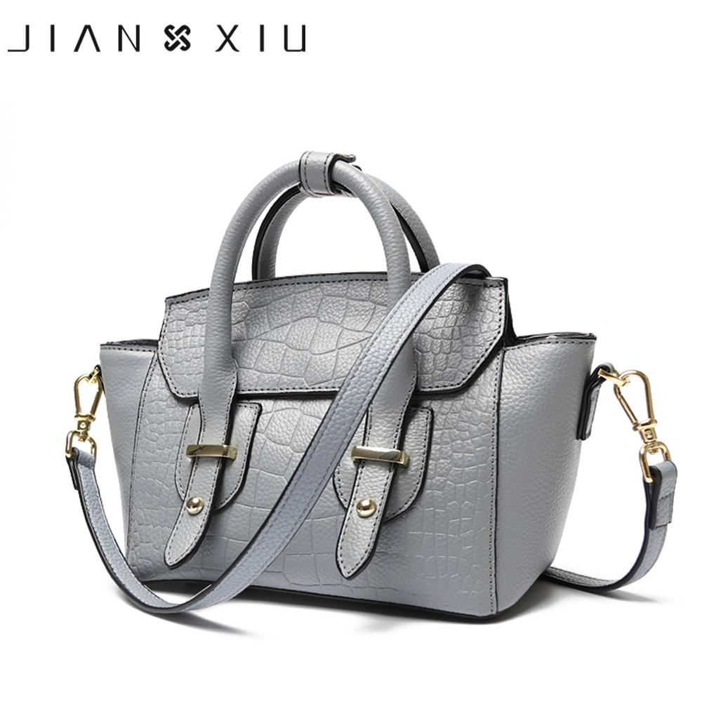 JIANXIU Genuine Leather Handbags Women Messenger Bags Bolsos Mujer Sac a Main Tassen Bolsas Feminina Shoulder Crossbody Bag Tote jianxiu handbags women messenger bags bolsa feminina sac a main bolsos mujer tassen nylon waterproof shoulder crossbody tote bag