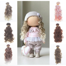 1 Piece 15cm Synthetic Fiber Screw Curly Hair Extensions for All Dolls DIY Accessories