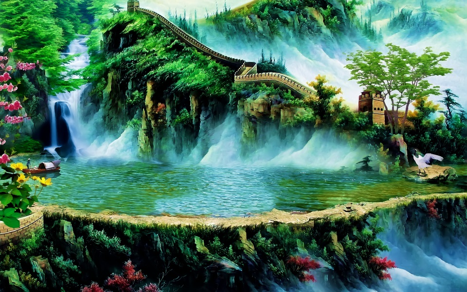 Us 150 50 Offcustom 3d Photo Wallpaper Room Mural Great Wall China Map Scenery 3d Painting Room Sofa Tv Background Non Woven Wallpaper Mural In