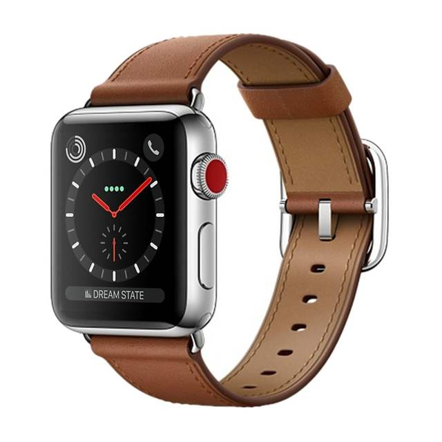 06d3ca7fcec CRESTED leather Classic Buckle strap For apple watch 4 band 42mm/44mm  iwatch series 3 2 1 wrist belt crazy horse bracelet-in Watchbands from  Watches on ...