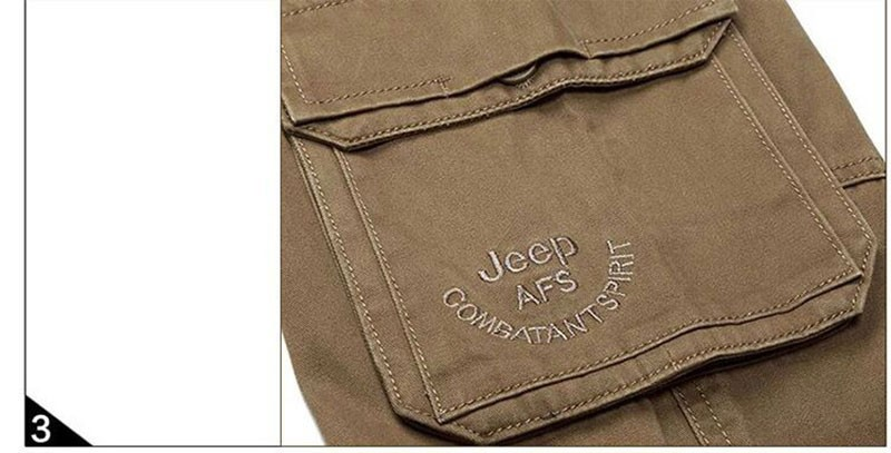 2015 New Autumn Winter Men\'s Cotton Cargo Long Pants High Quality Casual Straight Thick Pants Plus Size Trousers AFS JEEP 30~44 (10)