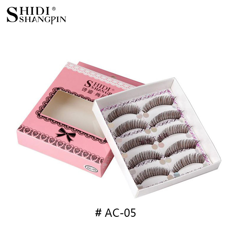 5 pairs natural false eyelashes brown handmade cross long fake eye lashes makeup eyelash extension soft faux lashes C05