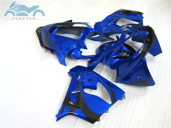 Free Custom fairing kits for KAWASAKI Ninja ZX9R 2002 2003 ABS plastic Motorcycle fairings kit 02 03 ZX 9R dark blue aftermarket