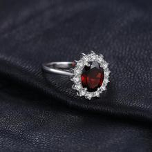 Sterling Silver Genuine Garnet Princess Ring Jewelry