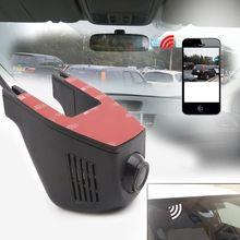 Скрытый Тип HD 1080 P Вождение рекордер Wi-Fi приложение управление широкий угол приборная панель DVR камера Dash Cam Вождение видео рекордер комплект видеонаблюдения