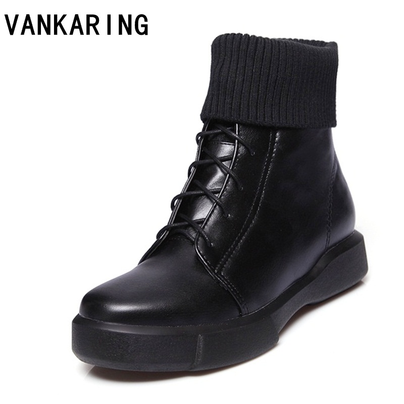 VANKARING winter women boots female winter shoes woman warm woollen snow boots platform wedges ankle boots for women black boots hee grand inner increased winter ankle boots warm fringe fashion platform women snow boots shoes woman creepers 3 colors xwx6180