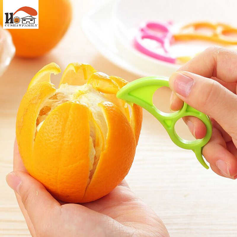 CUSHAWFAMILY 3 pcs/lot kitchen Fruit  Vegetable Gadgets Grater Easy Lemon Orange Peelers Slicer Cutter Plastic cooking Tools