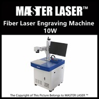 Lower Price 10W Fiber Portable 220V Input Raycus Laser With DELL DESKTOP Computer Jewelry Engraving Machine
