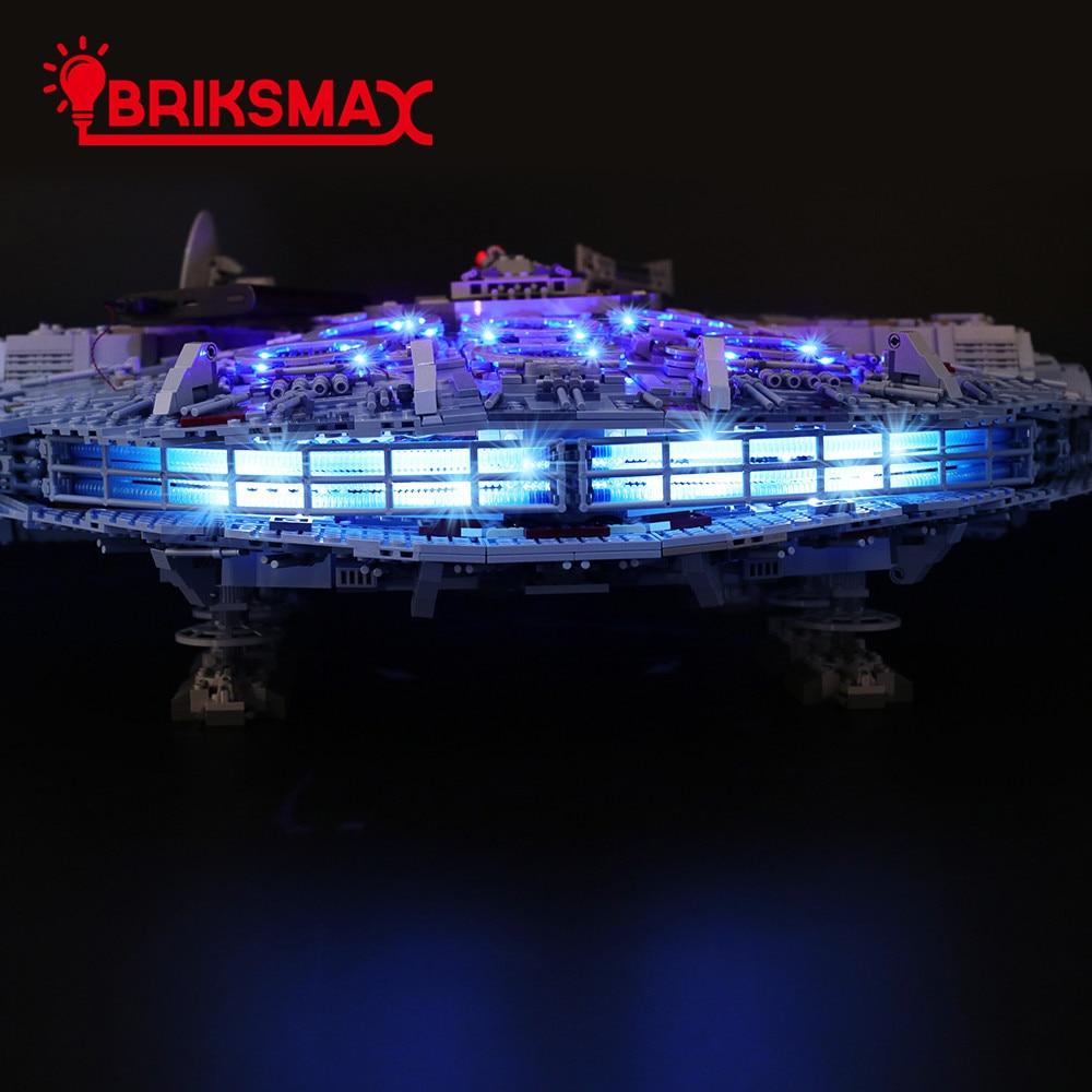 BriksMax Light Kit For Legoes 75192 Ultimate Millennium Blocks Lighting Set Falcon (NOT Include The Model)