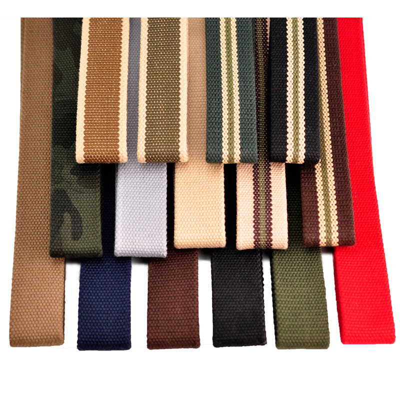 16 Colors Thicken Canvas  Military Belt Strap High Quality Strap Width 3.8 cm Whihout Buckle 110cm,120cm,130cm,140cm