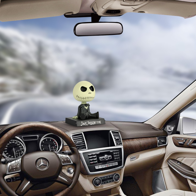 Jack Skeleton Bobble Head Dashboard Doll