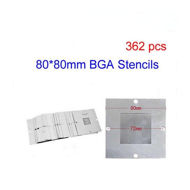 все цены на  323PCS/Lot 80*80mm BGA Heating Stencils BGA Reballing Accessories For Chips Rework  онлайн