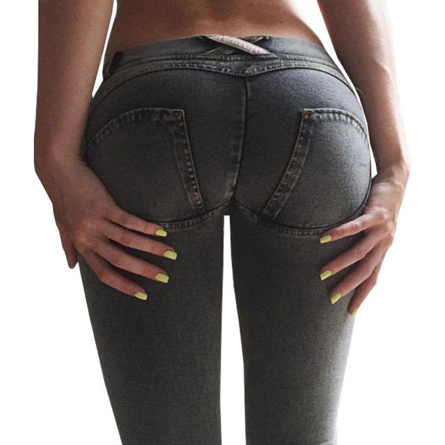 Freddy Jeans Pantalones de Las Mujeres de Moda Cintura Baja Pantalón Otoño Sexy Hip Push Up Jeans Pantalones Pantalones Pantalon Femme Freddy