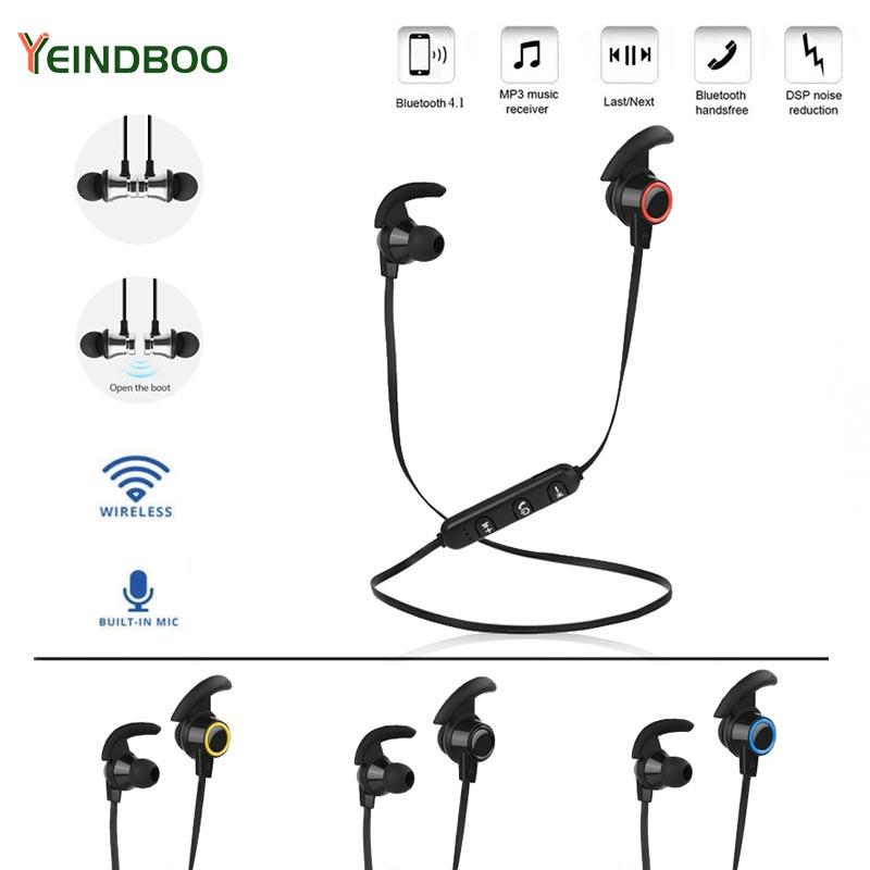 YEINDBOO Wireless Bluetooth Earphone Sports Running Wireless Headset Active Noise Cancelling Headset Phone Bluetooth Earphone