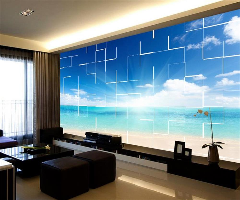 Compare Prices On Blue Beach Wallpaper Online Shopping Buy Low