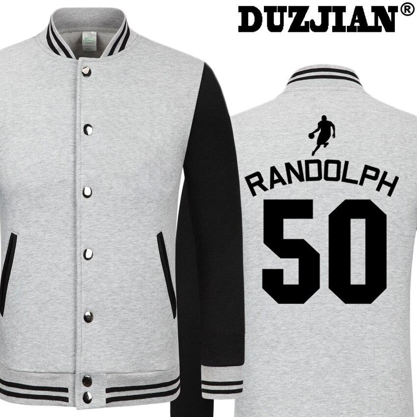 DUZJIAN Spring new Grizzlies Zach Randolph Z-Bo casual jacket cheap men winter jackets male coat boys jacket hip hop