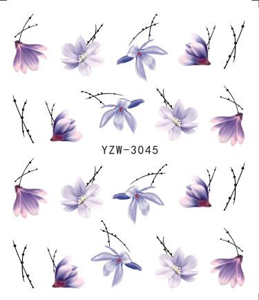 Стикер для ногтей на выбор цветение красочный цветок Роза валентинка Вода полный обертывания наклейки для ногтей Роскошные бусины