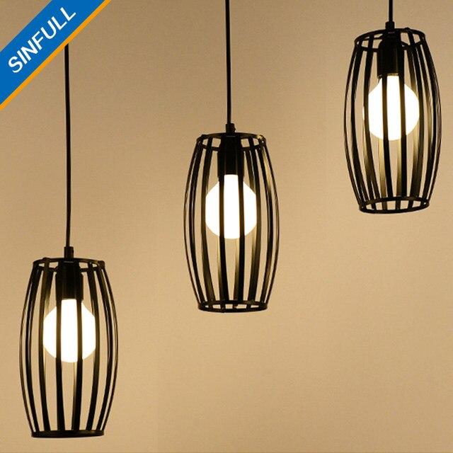Online Shop Vintage loft kooi woonkamer hanglampen zwart ijzer ...