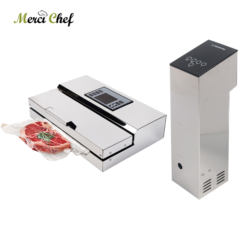 1 Lot Vacuum Sealer + Sous Vide Food Cooker Machine Immersion Slow Cooker Commercial Vacuum Food Packing Machine With Seal Bags