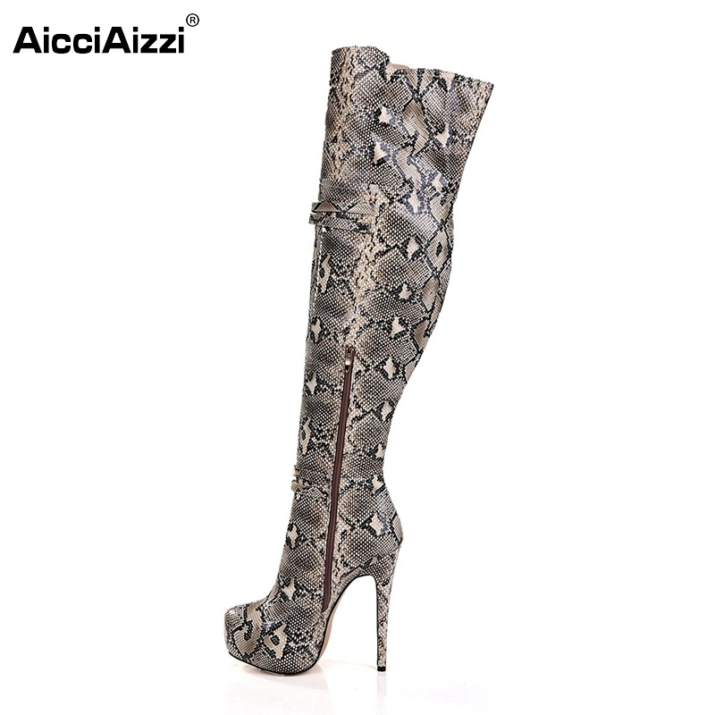 High-quality Women Over Knee Platform Boots Sexy Zip Thin Heels Fashion Boots New Design Shoes Woman Size 35-46 B115 nasipal 2017 new women pu sexy fashion over the knee boots sexy thin high heel boots platform woman shoes big size 34 43 g804