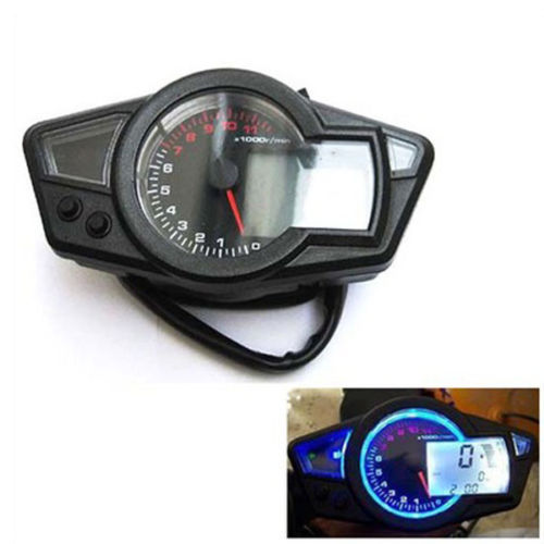 B35 11K RPM LCD Digital Odometer Speedometer Tachometer Motorcycle Backlight csu