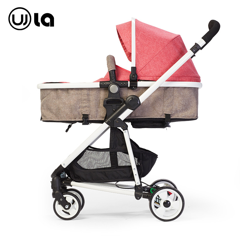 цены WLA High Landscape Stroller Baby Stroller Can Lay Ultra-light Four-wheeled Cart Lightweight Folding Travel Stroller