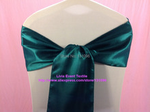 180pcs #163 Dark Teal Green Satin Sash 20x270cm For Wedding Events &Party Decoration
