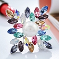Square Flower pearl brooches Women jewelry mix order