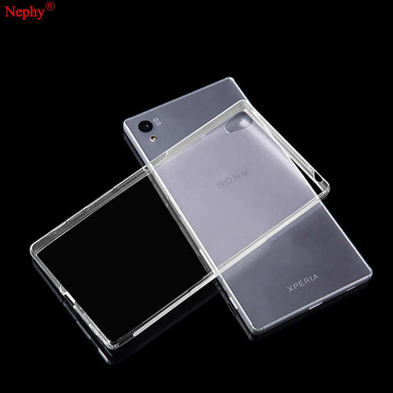 Nephy Soft Clear Case For Sony Xperia Z2 Z3 Plus Z4 Z5 M4 Aqua M5 X XA XZ XP X Compact Performance Cell Phone Back Cover Casing