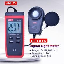 Digital luxmeter UNI-T UT383S 200000lux Auto range Data hold Digital Light Meter Illuminometers Photometer Lux/Fc Max/Min la 952 professional digital light meter luxmeter lux fc meters luminometer photometer 400000 lux