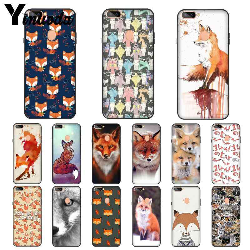 Yinuoda Animal More Cute Fox cat Novelty Fundas Phone Case Cover for OPPO R17 R17 Neo R11S Plus R9 R9S Plus Mobile Cases