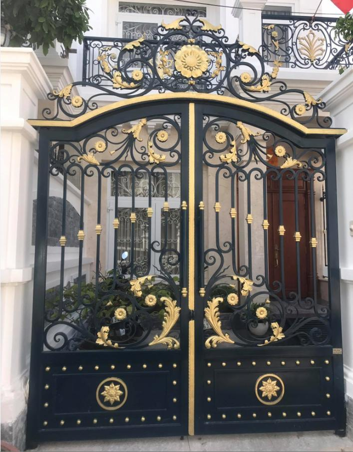 Handmade Top Villa Wrought Iron Gate One Stop Shipping To USA Hench-lg27