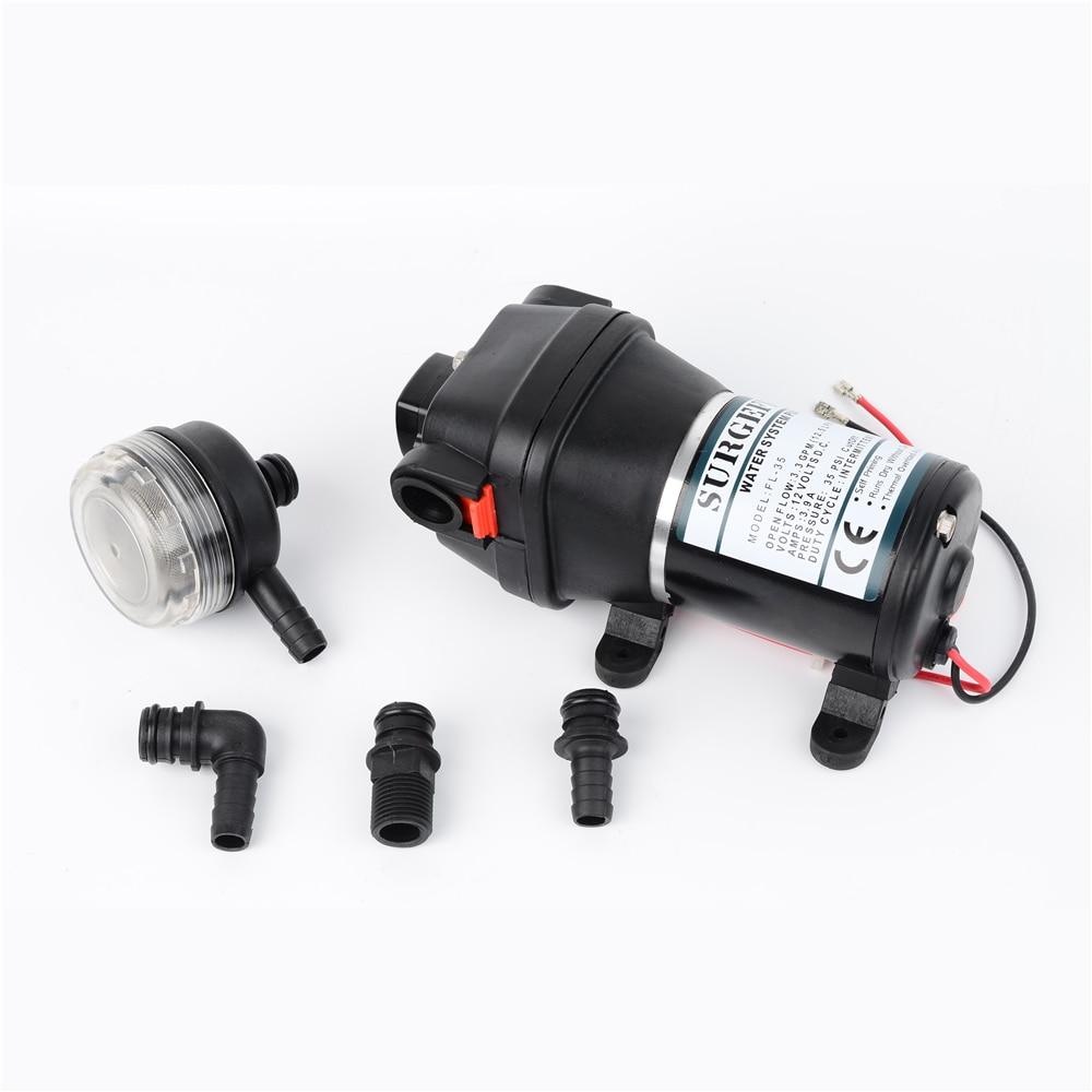 12V 24V 120W 35PSI Lift Max 20m DC Micro Diaphragm Pump Irrigation Motorhome RV Car Water