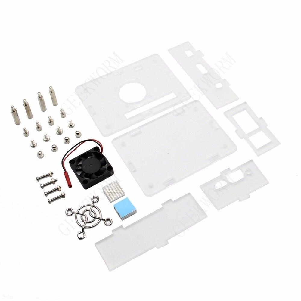 Image 4 - Orange Pi PC / PC2 / PC Plus Acrylic Case + 5V 3A EU Power Adapter + Cooling Fan + Heat Sink Start Kit Orange Pi kitorange pi kitorange pi pcorange pi pc plus -