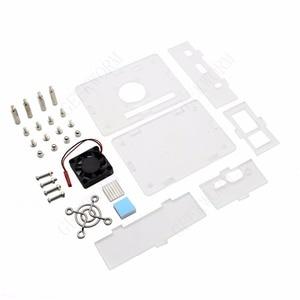 Image 4 - Orange Pi PC / PC2 / PC Plus Acrylic Case + 5V 3A EU Power Adapter + Cooling Fan + Heat Sink Start Kit Orange Pi kit