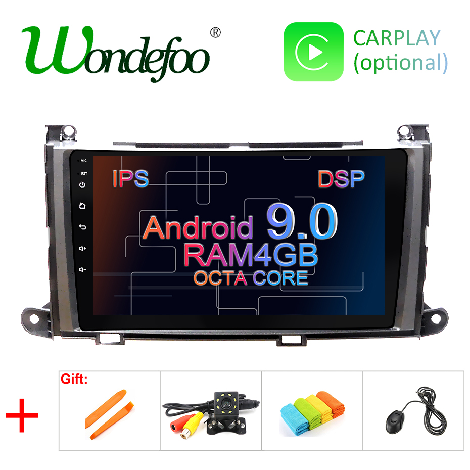 IPS screen 4G RAM Android 9.0 Car GPS for Toyota Sienna radio stereo screen AUDIO receiver navigation NO DVD player