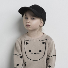 Ins Fashion Baby Girls Sweaters Boy Cartoon Cat Winter 2017 Cotton Kids Pullover Knitwear For Girl Sweater Children Clothing