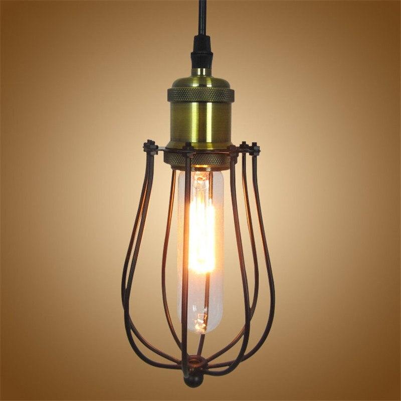Retro iron Grapefruit cage lampshade Pendant lamp E27 Vintage Loft Pendant light Hanging Lamp Home Lighting Luminarias