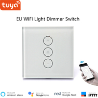 Tuya remote control LED light dimmer switch wifi dimming panel EU/US switch google home compatible for smart home IFTTT