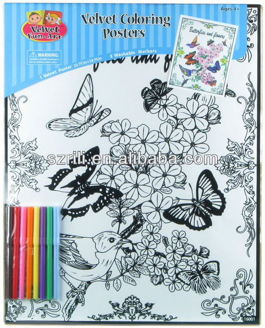 US $10.0 |Fantastic coloring velvet poster drawing with mini water color  marker-in Drawing Toys from Toys & Hobbies on Aliexpress.com | Alibaba Group