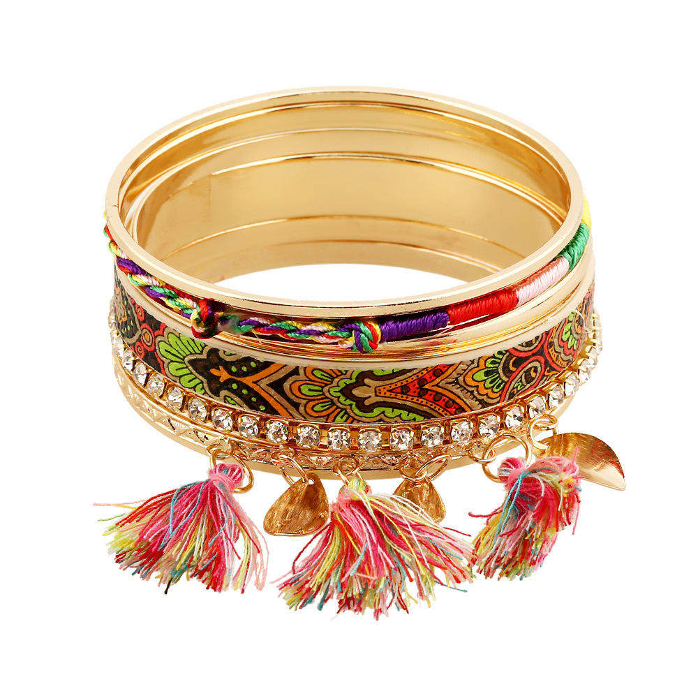 love bangle bohemian bracelet jonc tassel gold color ...