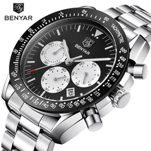BENYAR Brand Men Sport Chronograph Watches All pointers work