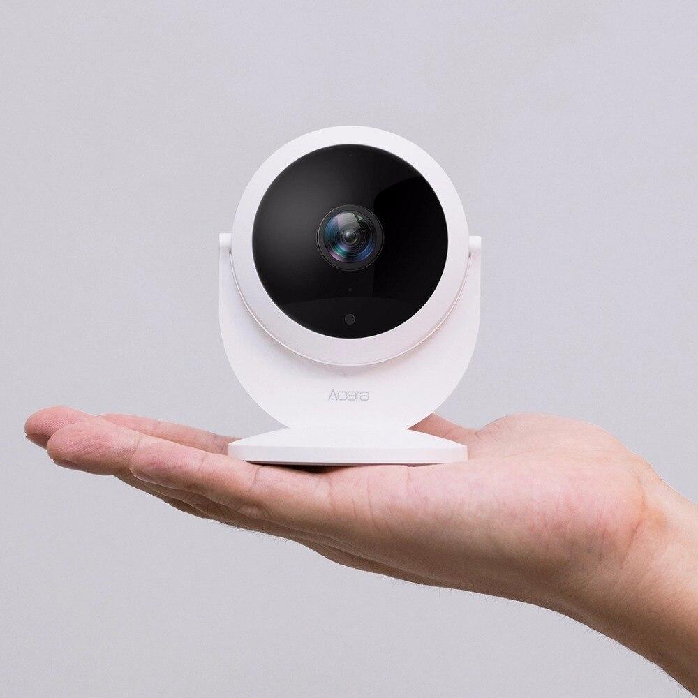 Xiao mi mi jia Aqara caméra IP intelligente avec fonction de moyeu de passerelle 1080 P HD alarme de liaison 180 degrés FOV mi Interphone vocal intelligent à domicile - 2