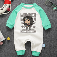 Fashion Baby Boys Girls Rompers Cartoon Wonder Woman Long Sleeve Newborn Baby Clothing Infant Outfits Clothes